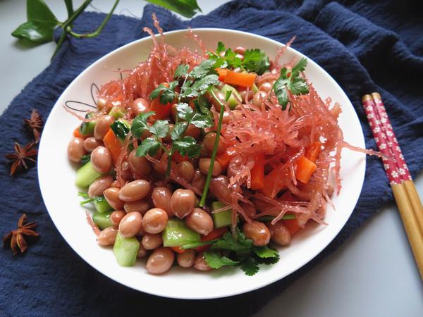 龙须菜拌花生成品图