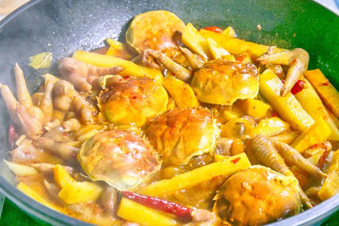 香辣肉蟹煲怎么吃