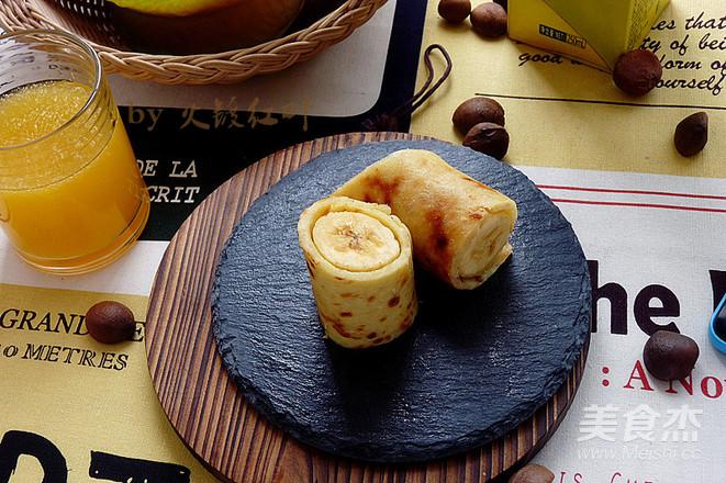 燕麦香蕉卷成品图