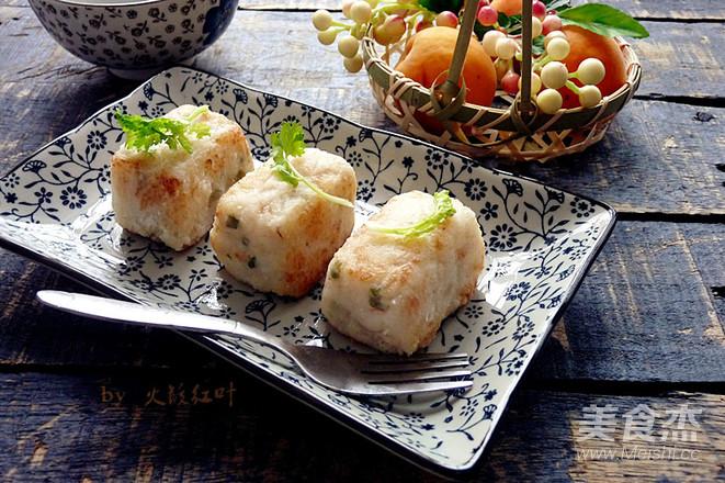 鱼茸虾米萝卜糕成品图