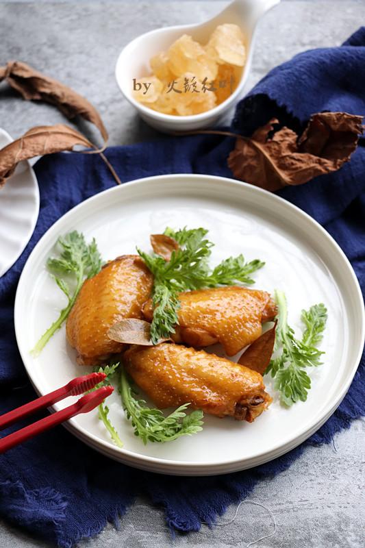 香油鸡翅成品图