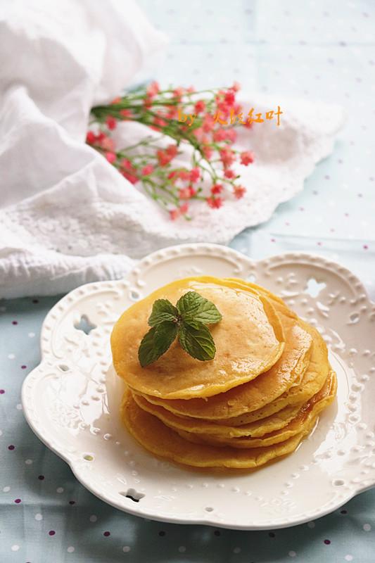 蜂蜜玉米鸡蛋饼成品图