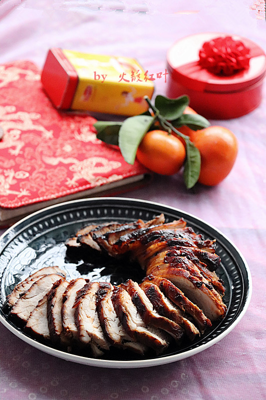 蒜香烤肉成品图