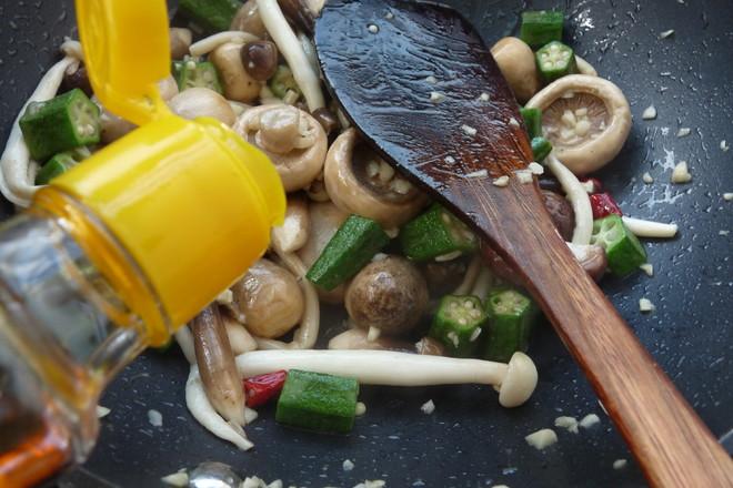 美食DIY——蒜香杂菇秋葵