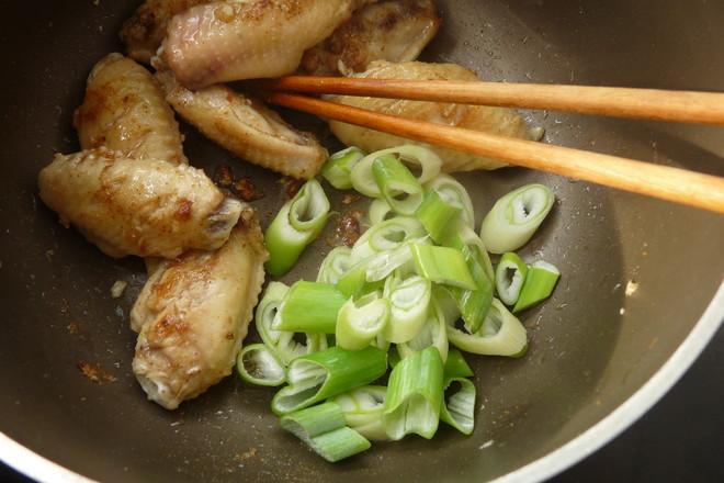 孜然大葱鸡翅#晚餐#怎么煮