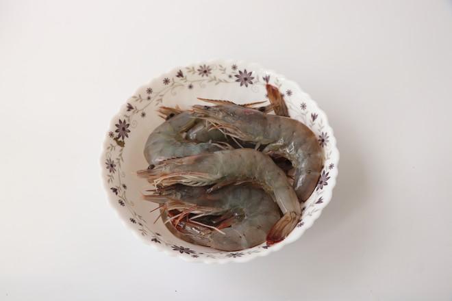 胡椒烤大虾#晚餐#的做法图解