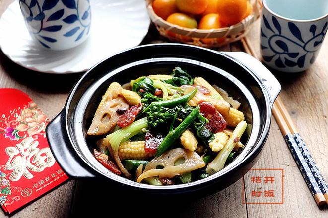 #合家欢乐#酱炒杂锦菜成品图