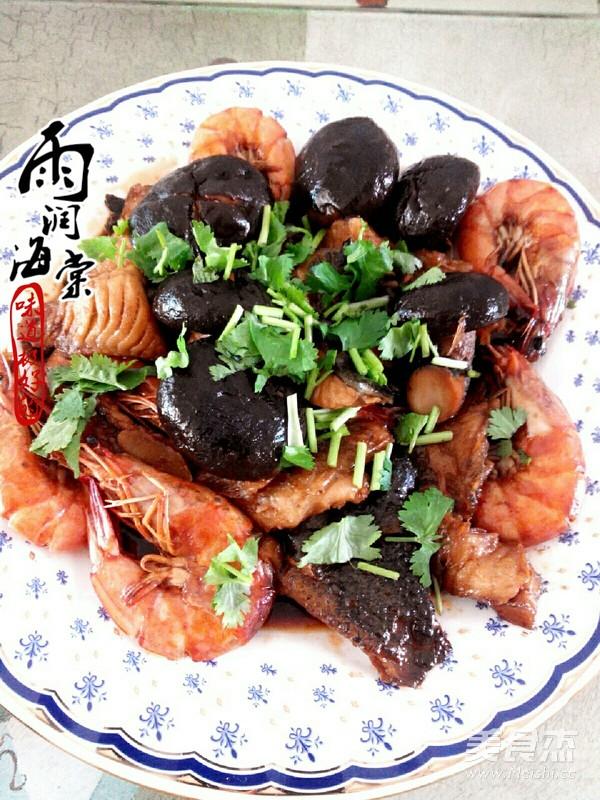 海参斑烧对虾怎么炖