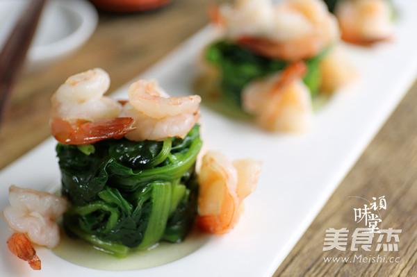 菠菜虾仁塔怎么吃