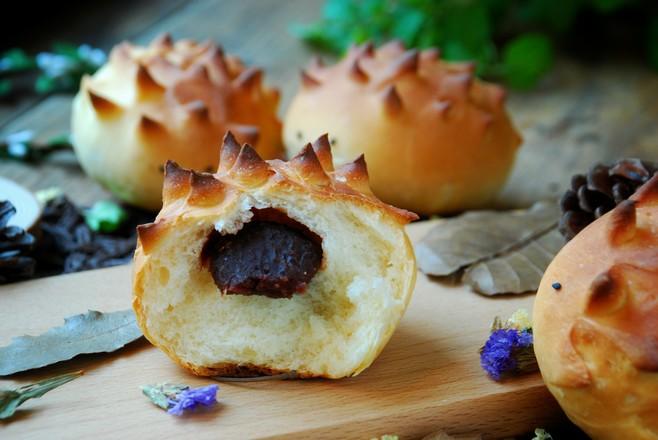 可爱小刺猬面包成品图