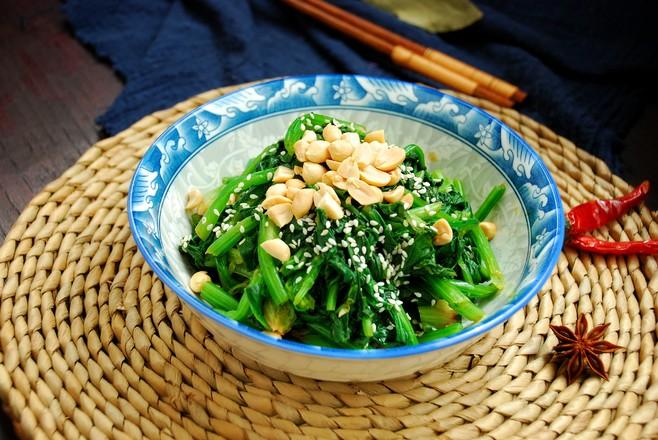芝麻果仁拌菠菜怎样炒