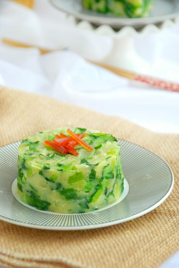 小白菜炒土豆泥成品图