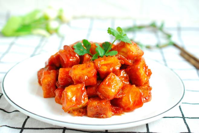 番茄脆皮豆腐成品图