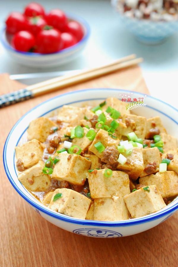 牛肉末烧豆腐成品图