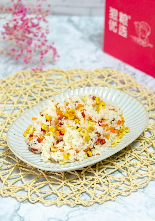火腿肠玉米炒饭成品图