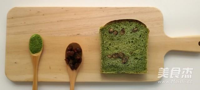抹茶蜜豆吐司成品图