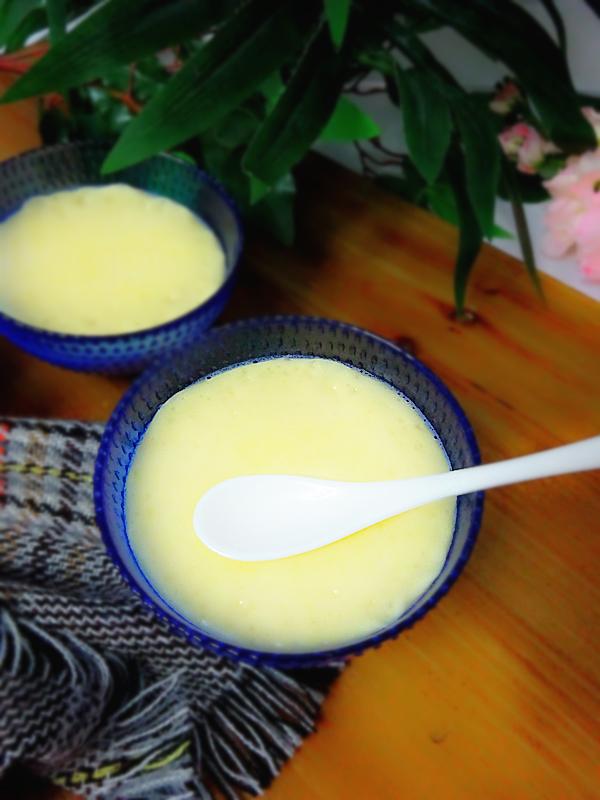牛奶炖蛋成品图