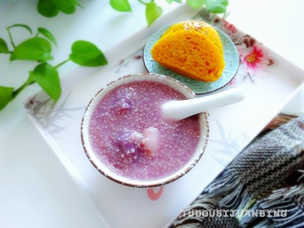 紫薯山药粥成品图