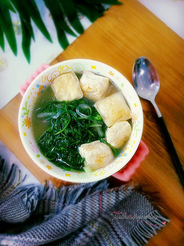 婆婆丁豆腐汤成品图