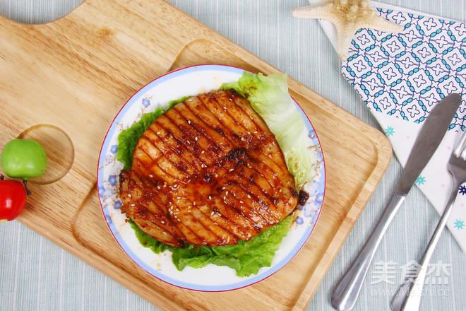 韩式烤鱿鱼成品图