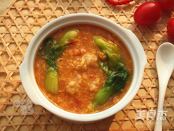 番茄疙瘩汤的制作