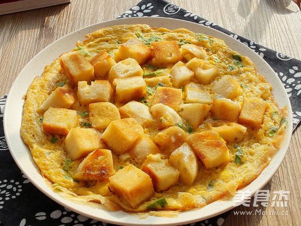 香煎馒头鸡蛋饼成品图