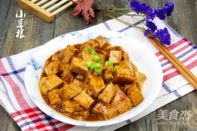 饭店超级下饭大众菜熘酱豆腐成品图