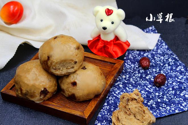 红红火火的补血益气的红枣馒头成品图