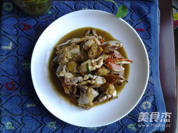 咖喱梭子蟹成品图