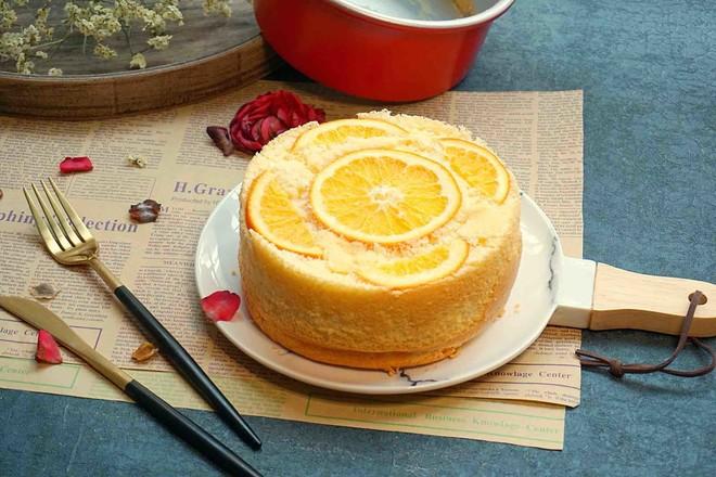 橙香蛋糕成品图