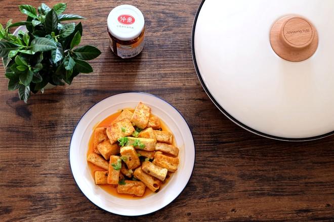奥尔良香菇酱煎豆腐成品图