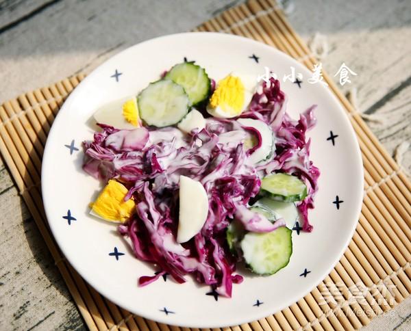 紫甘蓝酸奶沙拉:减肥利器成品图