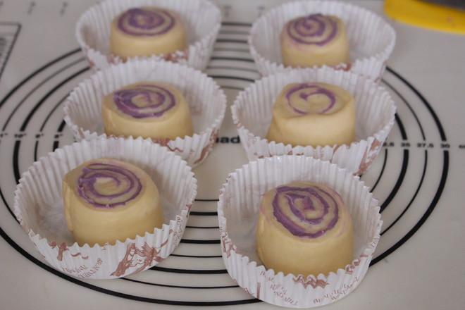 香芋紫薯面包卷#早餐#怎样煸