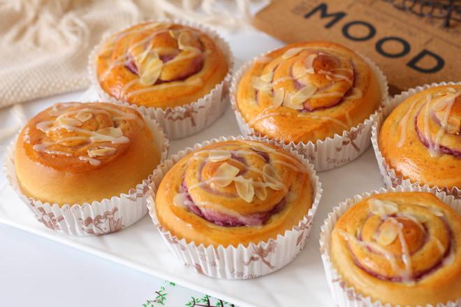香芋紫薯面包卷#早餐#的做法大全