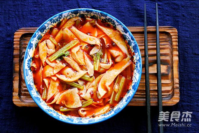 水煮杏鲍菇成品图