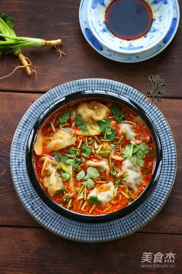 酸汤水饺成品图