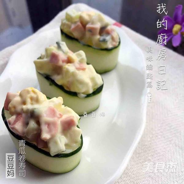 青瓜卷寿司成品图