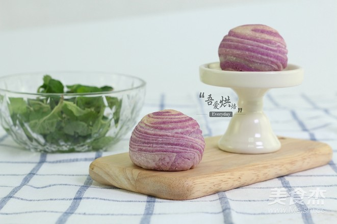 层次分明,酥得掉渣——紫薯酥怎样煮