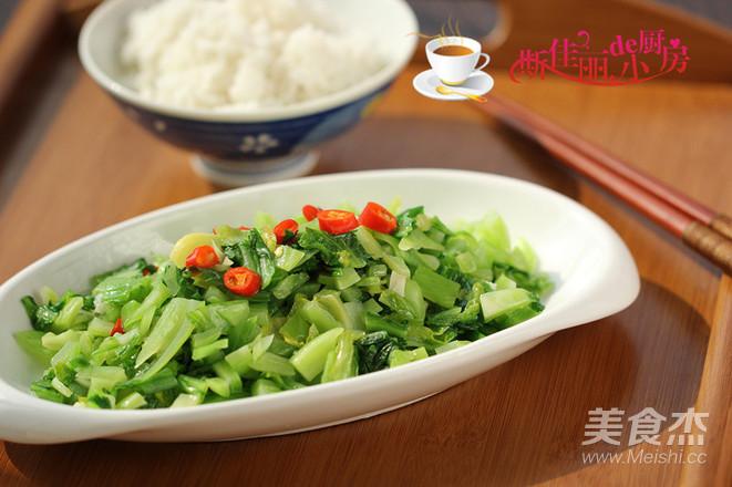 小炒芥菜成品图