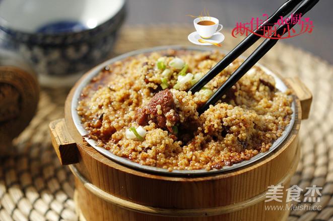 小米蒸牛肉成品图