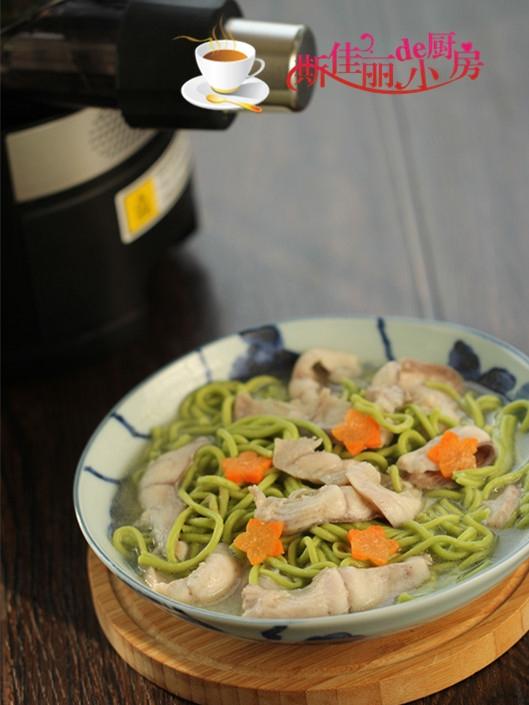 财鱼菠菜面成品图