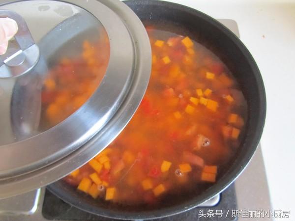南瓜番茄疙瘩汤怎么煮