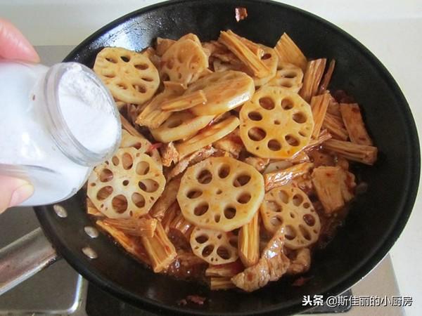 美食DIY ——香辣腐竹莲藕炒肉片