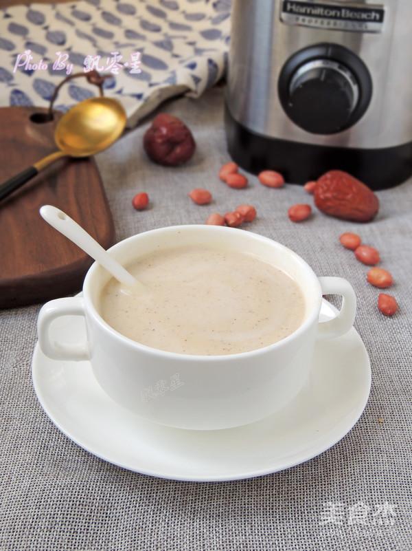 红枣花生牛奶成品图