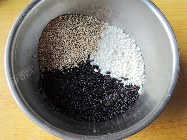 藜麦紫米粥#早餐#的做法图解
