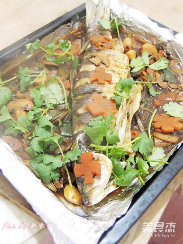豉汁烤鱼成品图
