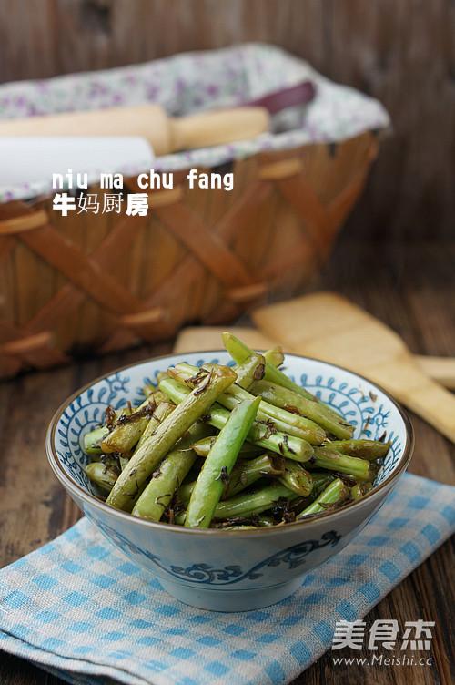 干菜四季豆小炒成品图