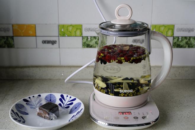 五味袪湿茶的简单做法