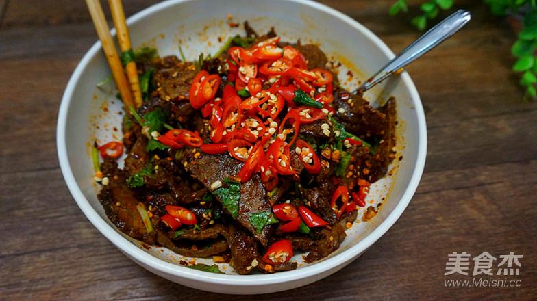 干拌麻辣牛肉的制作方法