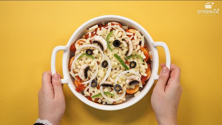 韩式热狗披萨成品图